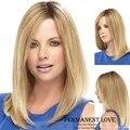 Длинные Прямые Бледная блондинка парики u часть парики Из Синтетических волос для Женщин естественной границе волос 2015 Мода Жаропрочных Парики парик
