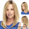 Long Straight Pale blonde wigs u part  Synthetic hair wigs for Women natural hairline 2015 Fashion Heat Resistant  Wigs perruque