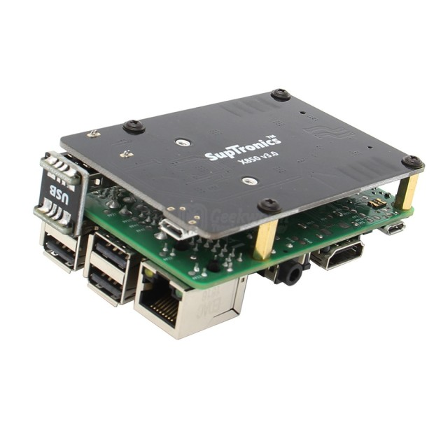 Raspberry Pi 3 Model B+(Plus) / 3B mSATA SSD Storage Expansion Board X850 V3.0 USB 3.0 Expansion Board Module for Raspberry Pi
