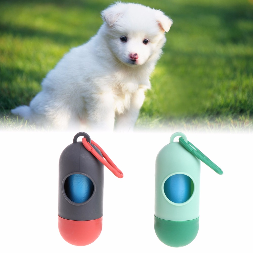 Portable Pets Waste Bag Holder With Bags Poop Excretion Dispenser Outdoor Puppy Dogs Cat Garbage Case Carrier Pet Supplies C42