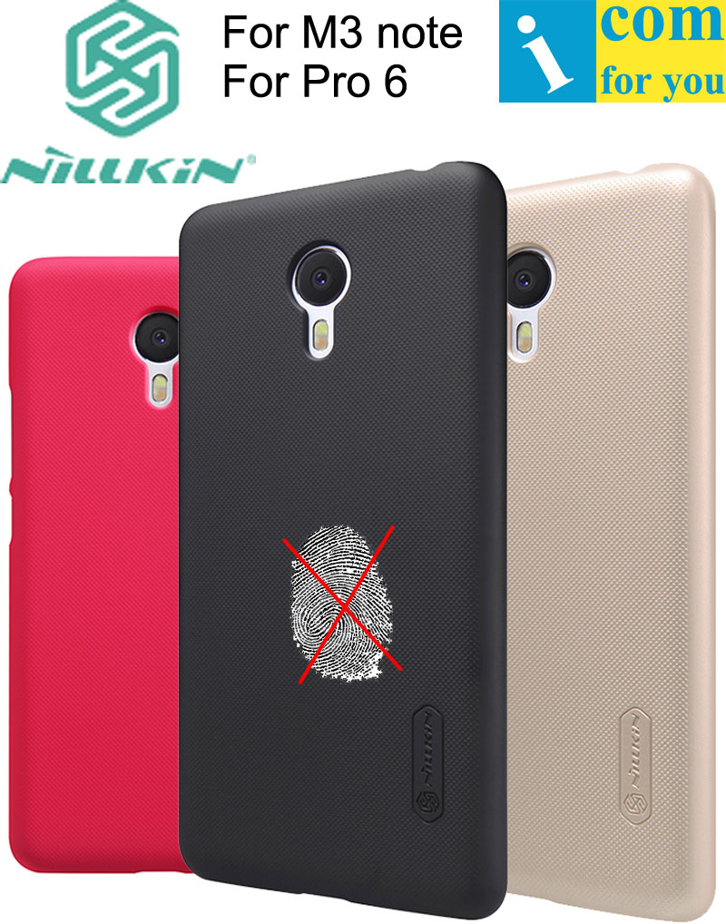 Nillkin Frosted Shield Back Cover Case For Meizu M5s M3 M5 Note MX6 Pro 6 M3E with Screen Film