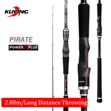 KUYING Pirate 2.88m 9'6″ Spinning Carbon Fishing Lure Rod Rods Fish Cane Pole Stick FUJI Components Far Casting Medium Quick Motion