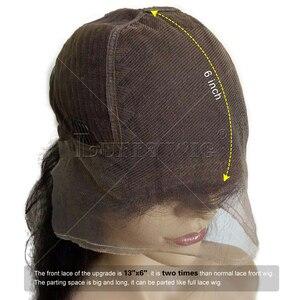 Image 5 - LUFFYHAIR 곱슬 머리 레이스 프론트 가발 Bangs 브라질 레미 인간의 머리카락 짧은 13x6 레이스 프론트 가발 베이비 헤어 자연 헤어 라인