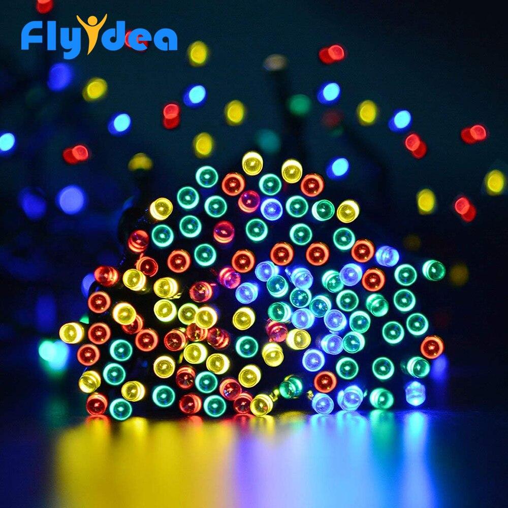 LED solar light string color fairy flexible rope lamp New Year Halloween garden lighting dressing table