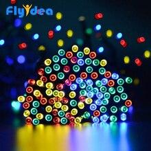Светодиодный светящаяся гирлянда с солнечной батареей цвет фея Гибкая веревка лампа Новый год Хэллоуин garden освещения туалетный столик украшения