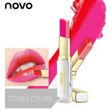 brand NOVO magic lipstick kiss proof long lasting waterproof cheap lipstick flower lipstick lipbalm baton mate matte red lip
