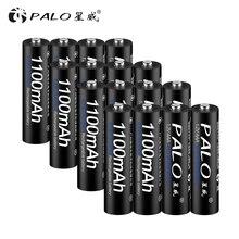 palo 16 unids/lots AAA 1100 mAh ni-mh 1.2 V Battria rechargeable AAA battery 3A Battria rechargeable ni-mh batteries camera