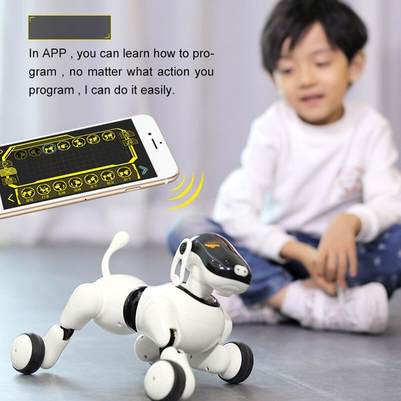 Cane Robot Giocattolo Intelligente Pet Elettronico iDog Cane Robot Intelligente Cane Giocattolo Per Bambini Intelligente Parlare Canta Danza A Piedi Robot Senza Fili