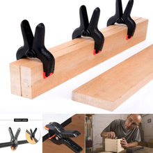Spring Clamps Plastic Nylon Clamps For Woodworking Spring Clip Photo Studio Background DIY Woodworking Tools #YY(China)