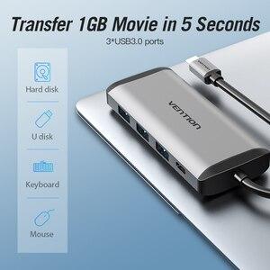 Image 3 - Vention Usb רכזת סוג C כדי HDMI USB 3.0 רכזת Thunderbolt 3 מתאם עבור MacBook סמסונג S10 Huawei Mate 20 p30 פרו אפל USB C רכזת