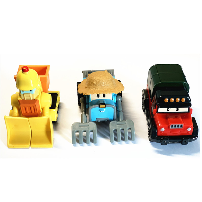 New Robot Car Anime Action Figures Toys Robocar Poli Metal Model Set Toys For Children Gifts Brinquedos