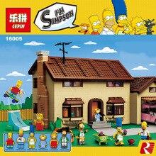 New 2575Pcs Lepin 16005 Simpson's family Kwik-E-Mart Set Building Blocks Bricks Minifigures Toys legoed 71006