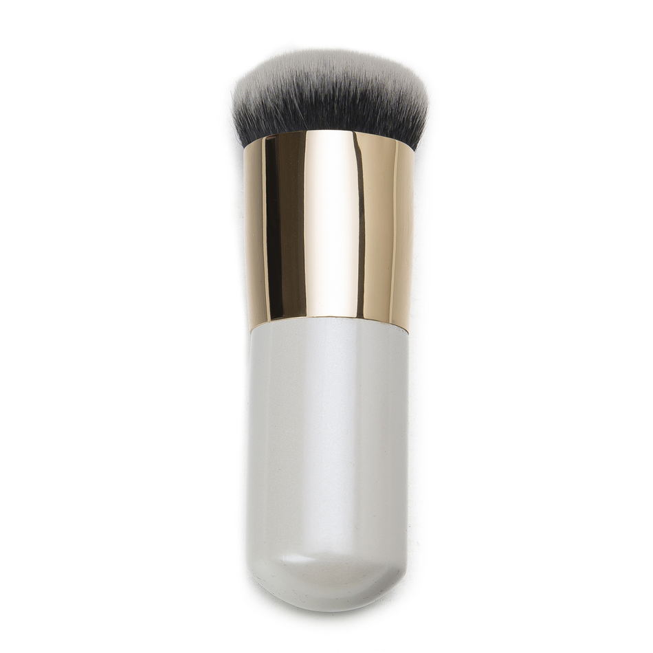 Pearly White Handle Face Foundation Brush 30 Seconds Makeup Kabuki Brush Makeup Tool