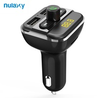 Nulaxy Car MP3 Player Support Flash Driver TF SD Card Bluetooth FM Modulator With Dual USB