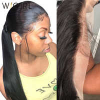 Wigirl HD Transparent 13x4 13x6 Ear To Ear Lace Frontal Brazilian Straight Hair Closure Pre Plucked With Baby Hair 100% Human Hair