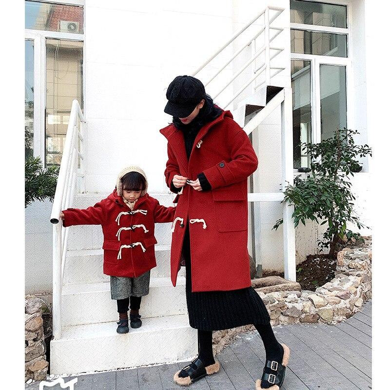 Correspondant famille tenues fille Long pardessus Parent-enfant épais coton veste pour enfants maman et moi correspondant vêtements