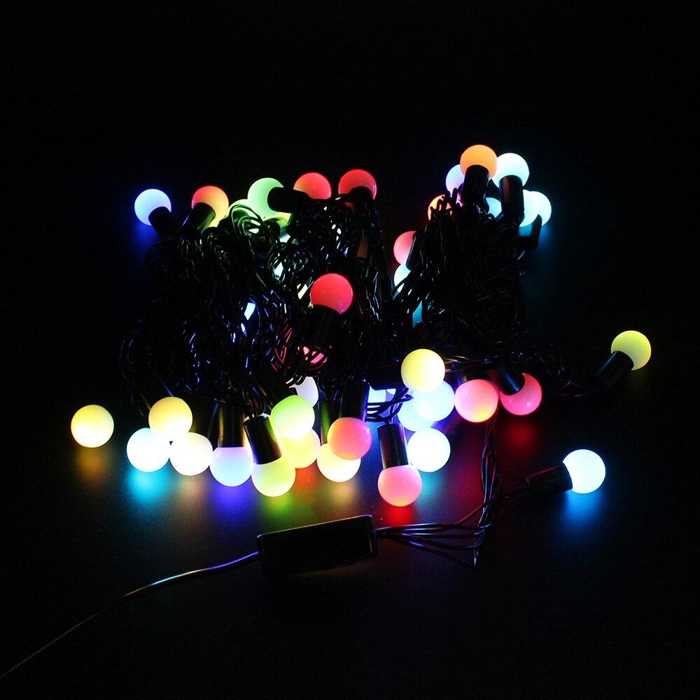 Večbarvna 220V 5M 50 LED RGB povezovalna kroglična praznična svetilka za okrasitev doma / poroka / rojstni dan / počitnice / božična zabava