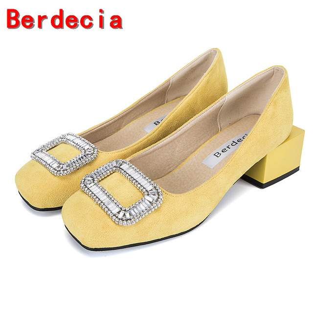 Berdecia Feminino Sapato Da Spessi Tacchi Scarpe Designer Bassi 5LAR4j