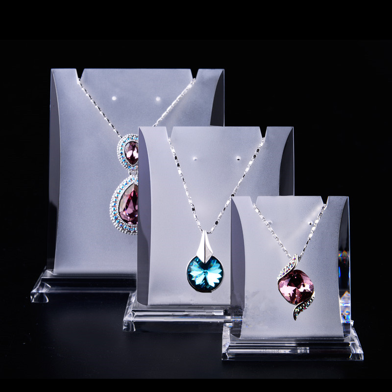 3pcs Acrylic Necklace Display Holder NecklaceampEarrings Display Stand Acrylic Jewellery Holder