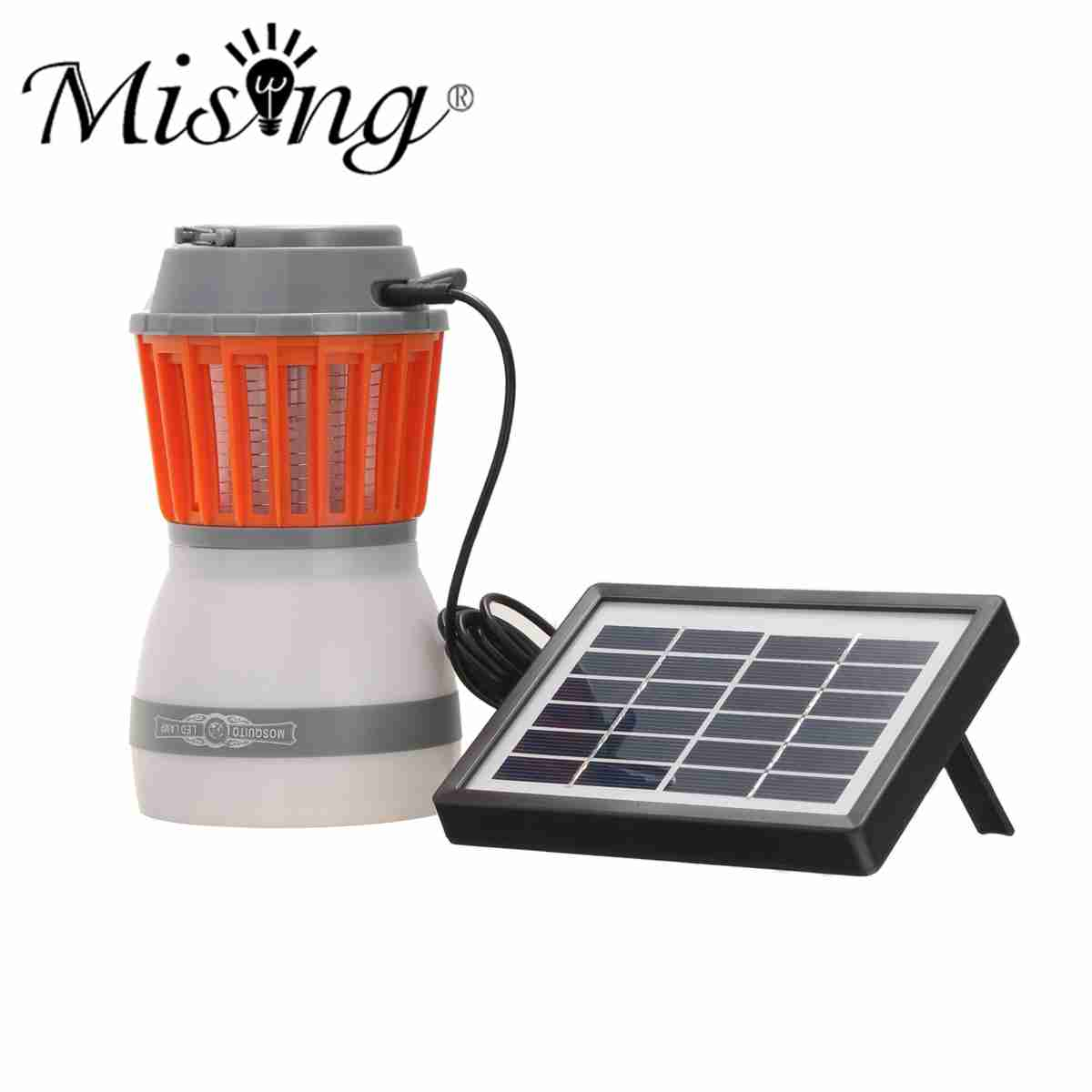 1 satz 5 V ABS Solar Panel USB Lade Moskito-killer Lampe LED Licht Camping Licht Dimmbar Tragbare