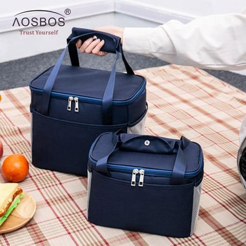 Bolsa de Almoço Caixa de Piquenique Aosbos Grande Capacidade Isolado Bolsalas Térmicas Cooler Piquenique Comida Lancheira Bolsa Moda Portátil