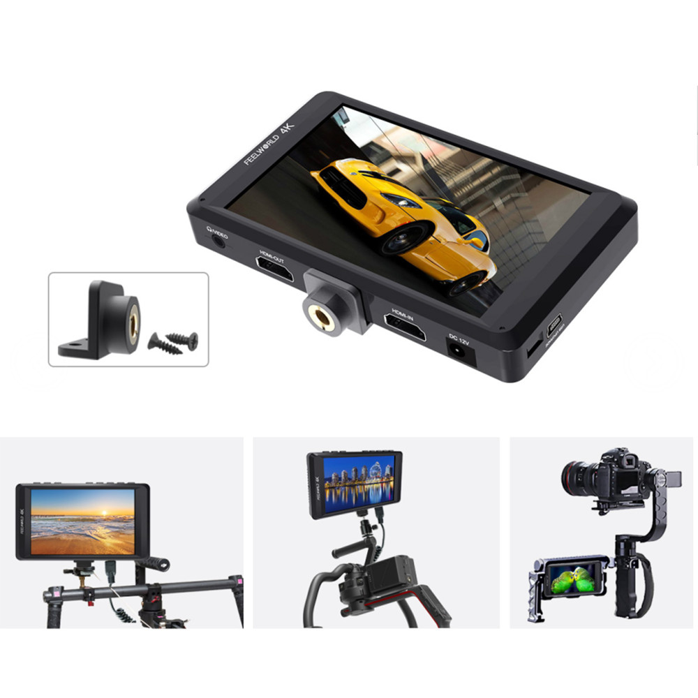 Feelworld FW450 4.5 IPS 4K HDMI Camera Field Monitor 1280x800 HD Portable LCD Monitor for DSLR with Peaking Focus crane 2
