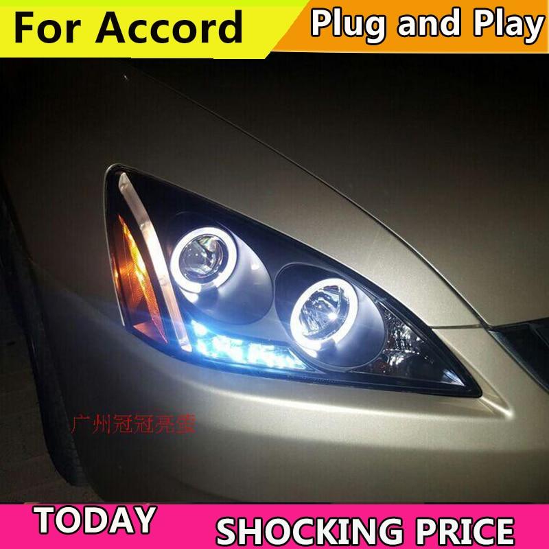 Phares de voiture doxa phare avant pour Honda Accord 2003-2007 an phare LED DRL HID xénon bi xénon lentille avant