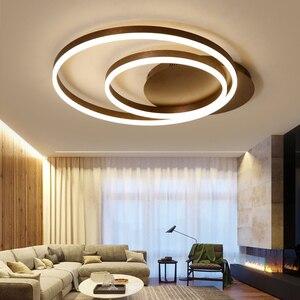 Image 3 - Hot koop Creatieve ringen led kroonluchter plafond voor woonkamer lights bed room ledlamp Bruin moderne kroonluchter verlichtingsarmaturen