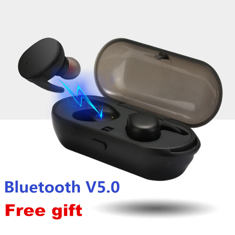 E-XY Capsule Wireless TWS Earbuds V5.0 Bluetooth Earphones Headset Deep Bass Stereo Sound Sport Headphone For Samsung Iphone