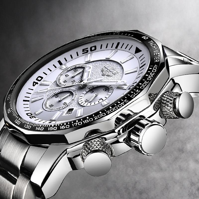 LIGE Watch Men Fashion Casual Sport Quartz Watch Mens