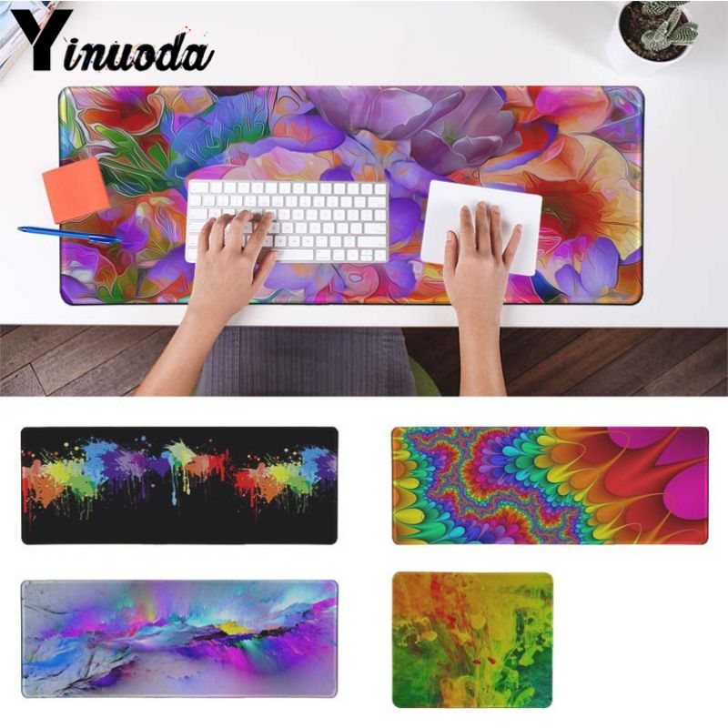 Yinuoda Computer Keyboard Mat colourful painted High Speed New Mousepad Size for 18x22cm 20x25cm 25x29cm 30x90cm 40x90cm