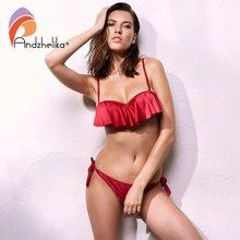 Anadzhelia Sexy Lotus leaf Bikinis Women Swimsuit Brazilian Bikini