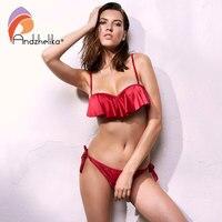 Anadzhelia 2017 Sexy Lotus Leaf Bikinis Women Swimsuit Brazilian Bikini Set Beach Bathing Suit Push Up