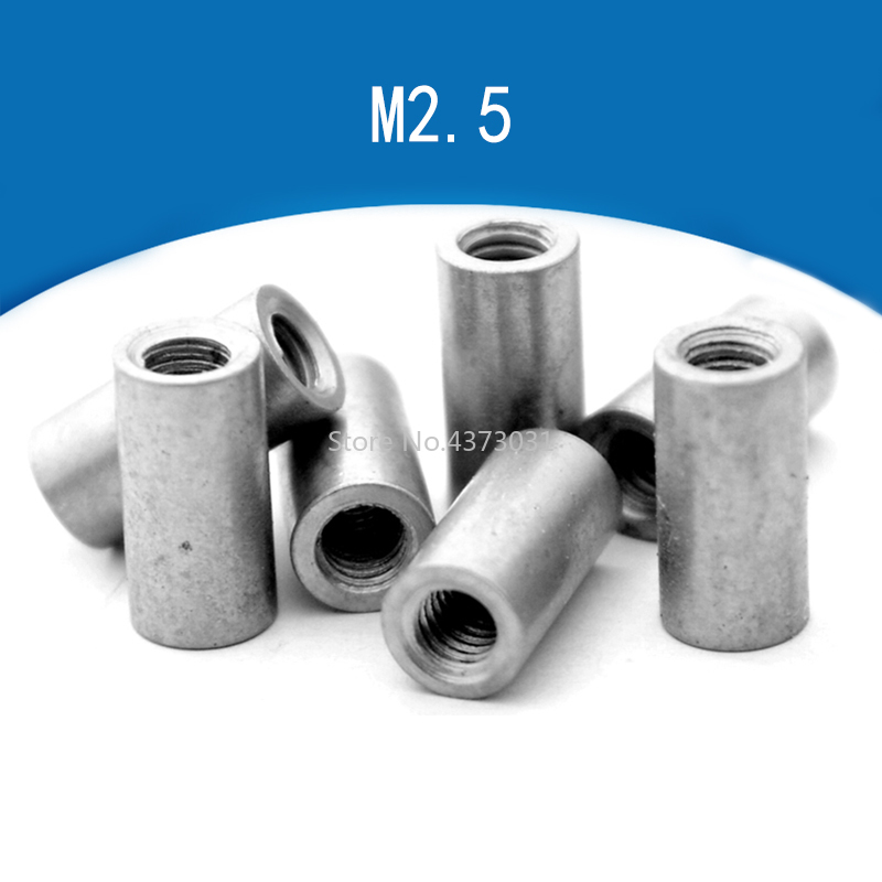 10 Pieces Connecting Pipe Rivet Cheese M2.5 Thread Diy Knife Material Making Knife Handle Screw Cylindrical Nuts