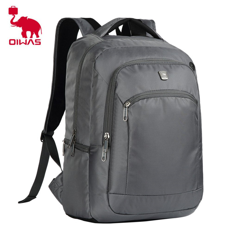 Oiwas Casual Business Style Students School Bag Men Women Travel Backpack 14 Inch Laptop Notebook Bag Fashion oiwas multifunctional solid color men women laptop backpack business style travel bag school shoulder bag black