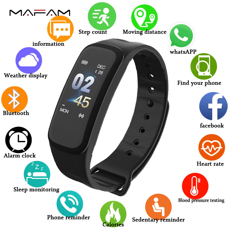 MAFAM C1Plus Smart Watch Sport Fitness Tracker Heart Rate Blood Pressure Oxygen Monitor Running Men Watch Women For IOS AndroidMAFAM C1Plus Smart Watch Sport Fitness Tracker Heart Rate Blood Pressure Oxygen Monitor Running Men Watch Women For IOS Android