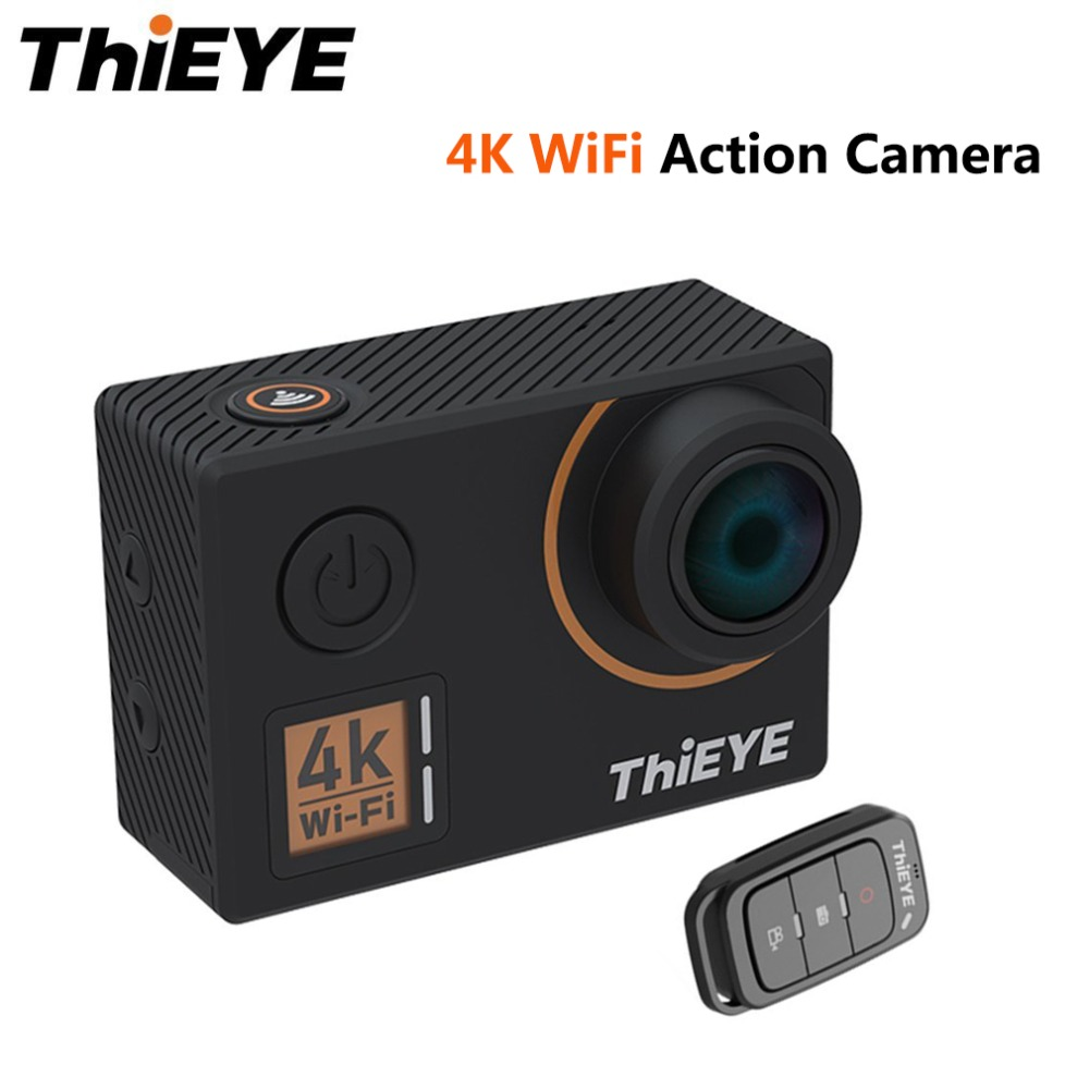 ThiEYE T5 Edge 4K WiFi Action Camera 170 Wide Angle Lens 2 inch LCD Cam 1080P HD Sports Camera Support Voice Remote Control thieye t5e wifi 4k action camera black