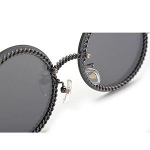 Image 5 - Fashion Women Rimless Sunglasse 2020Luxury Brand Designer Round Sunglasses Oculos De Sol Feminino with Original Packing Box