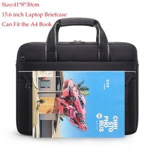 Image 3 - מותג באיכות גבוהה עסקי גברים תיק 15.6 אינץ מחשב נייד תיק מזדמן שליח כתף תיק מסמכים משרד אופנה