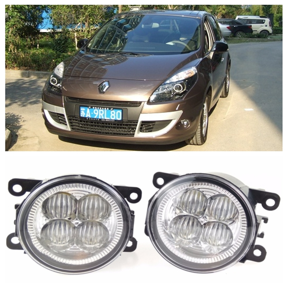 For RENAULT SCENIC III JZ0 JZ1 MPV  2009-2015 10W High power high brightness LED set lights lens fog lamps куплю тормозные колодки на renault scenic rx4