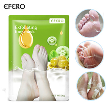 EFERO 60Pcs=30Packs Exfoliating Foot Mask for Legs Remove Dead Skin Whitening Smooth for Feet Care Spa Pedicure Socks Foot Patch