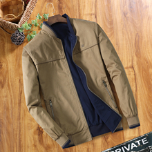 Cotton men's coat thin, spring and autumn seasonal work wear double-sided middle-aged men's jacket work clothes large code MC80