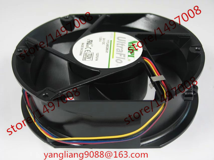Free Shipping For Nidec Y17L24BS2M3-01 DC 24V 1.38A, 172x150x51mm 3-wire Server Square Cooling Fan free shipping for nidec u80t24mua7 53j24 dc 24v 0 09a 80x80x25mm 3 wire server square cooling fan