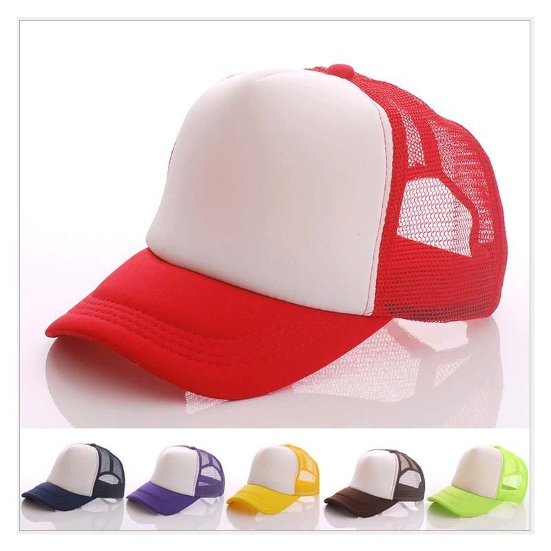 10pcs A lot Wholesale Customized Net caps Adult Outside Mesh Trucker Hats  Men and Women snapback baseball cap Peaked hat Cheaper 85d860c8b3ef
