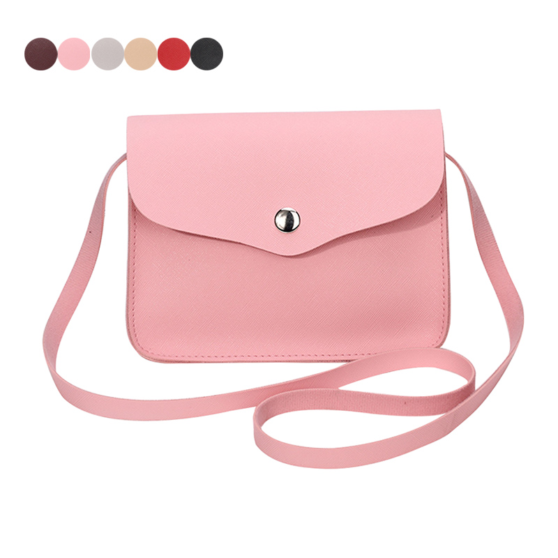 Fashion Women Candy Color Shoulder Bag Leather Purse Adjustable Strap Summer Ladies Girl Causal Messenger Crossbody Bags LT88