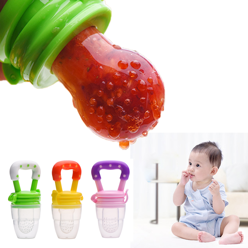 Silicone Baby Pacifier Fruit Nipple Soother Toddler Kids Pacifier Feeder Learn Feeding For Fruits Food Baby Feeding Pacifier