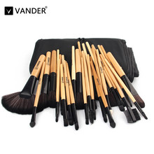 A+ Beautiful Pro Vander 32pcs Brushes Set Tools Foundation Face&Eye Powder Blusher Cosmetics Makeup Brush Kits Collections + Bag