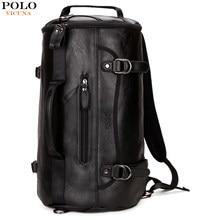 e76bb2c1d3 VICUNA POLO Famous Brand Bucket Shape Men Travel Backpack Fashion Large Men  Travel Bag Multifunction Man Shoulder Duffel Bags