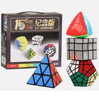 4 PCS/set ShengShou's Magic Cubes 3*3 Mirror Cube 3x3x3 Pyramid 3 Layers Triangle Megaminx Speed Mastermorphix Cubo Megico