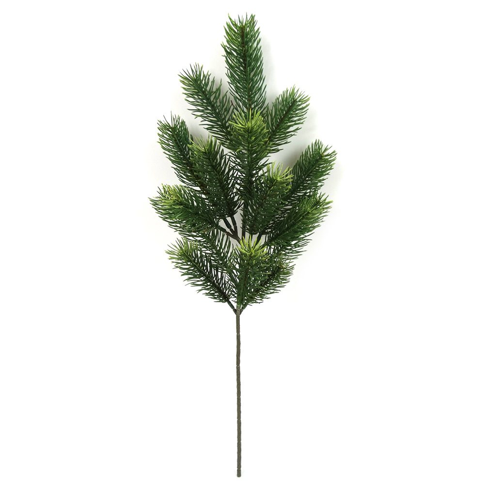 Image 2 - 48cm Artificial Plants Pine Branches Christmas Tree Wedding Decorations DIY Handcraft Accessories Children Gift Bouquet-in Artificial & Dried Flowers from Home & Garden